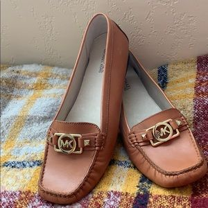 Michael Kors leather loafers NWOB